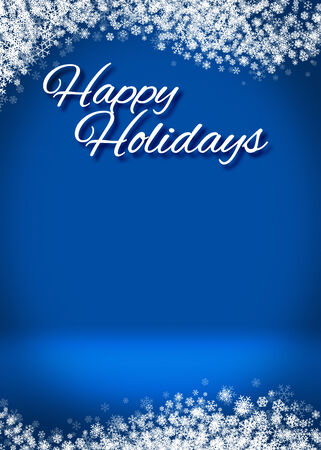 happy holidays: Happy Holidays Winter Greeting Card Background Template