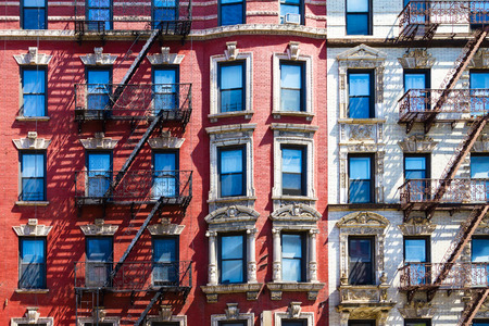 townhome: Manhattan New York City - Background texture pattern of Buildings