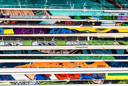 Comic books old vintage paper background texture pattern Banque d'images