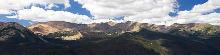 rocky mountain national park: Panoramic landscape of Rocky Mountain National Park in Colorado