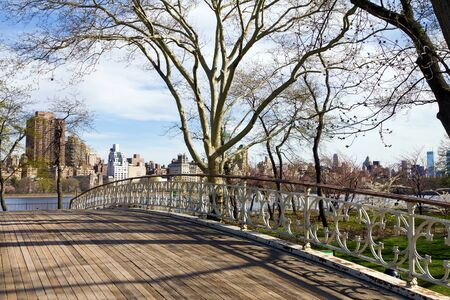 Old Wooden Bridge in Central Park, New York City