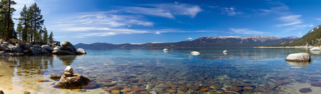 Lake Tahoe Panoramic Landscape in California