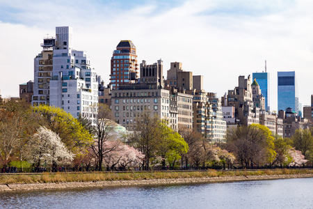 Central Park Spring Landscape Scene in Manhattan, New York City