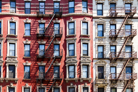 old houses: New York City apartment building background