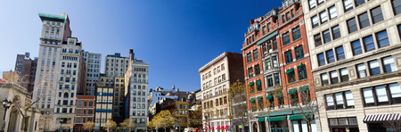 village: Buildings around Union Square Park in Manhattan, New York City