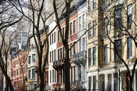 New York City-Block in der oberen Westseite von Manhattan Standard-Bild