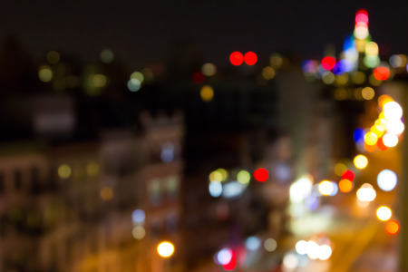 New York City Skyline Blurred Lights Abstract Background Texture