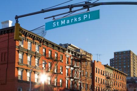 St Marks Place street scene in Manhattan, New York City Editorial