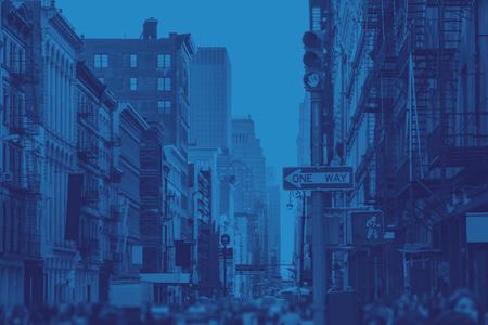 SoHo Streets New York City in Blue