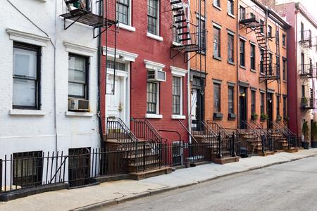 New York City historic Gay Street in the Greenwich Village neighborhood of Manhattan NYC Stock Photo