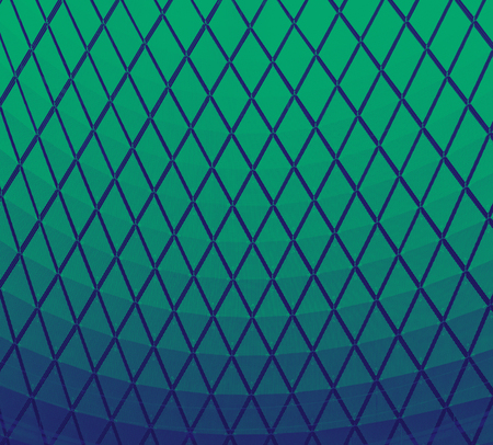 Blue and green repeating pattern of triangles modern background texture