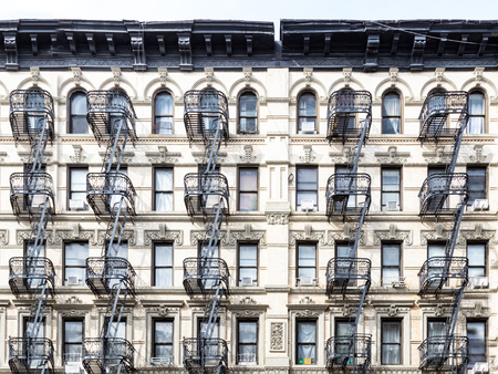 Old building in the Lower East Side of Manhattan, New York City NYC Stock fotó - 109753224