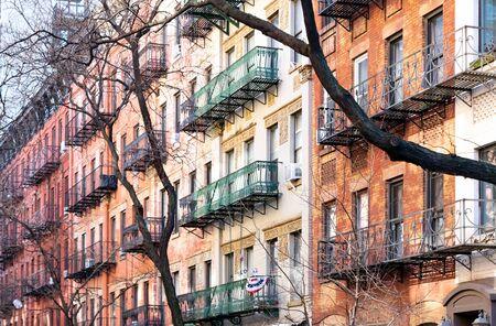 Block of colorful old buildings in the Upper East Side neighborhood of Manhattan in New York City NYC Reklamní fotografie