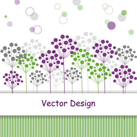 vertical divider: Plant abstract background in vintage style. Vector illustration. Illustration