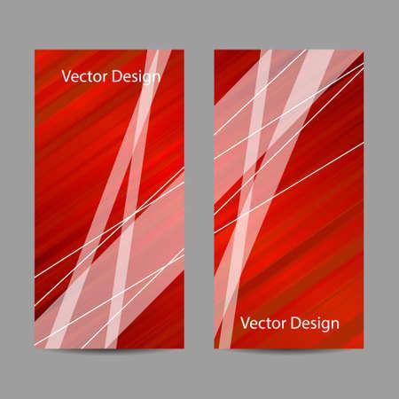 Conjunto de banderas verticales. Resumen de rayas rojas y blancas de fondo. Diseño de negocios, ciencia, medicina y tecnología.