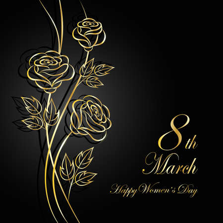 prestigious: Womens day greeting card.