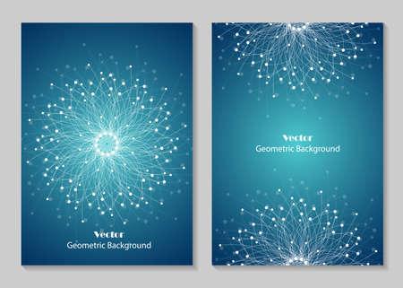 Diseño moderno de la cubierta del folleto. Ilustración de vector