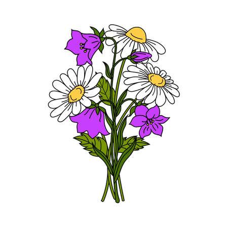 Beautiful flowers on white background.
