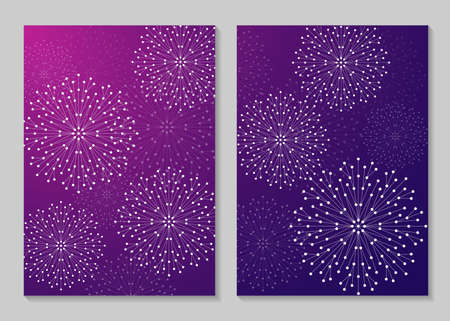 size: Modern vector templates for brochure cover in A4 size. Abstract geometric forms with connected lines and dots. Business, science, medicine and technology design.