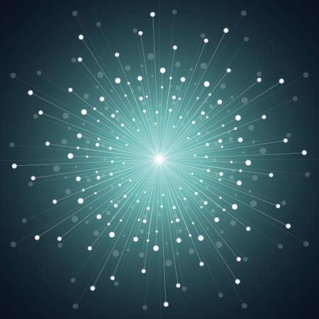 A cosmic design geometric seamless pattern sparkling background on black  vector illustration