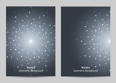 Modern brochure cover design seamless pattern sparkling background on black  vector illustration
