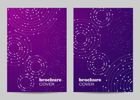 Brochure template layout design. Geometric pattern with connected lines and dots. 矢量图像