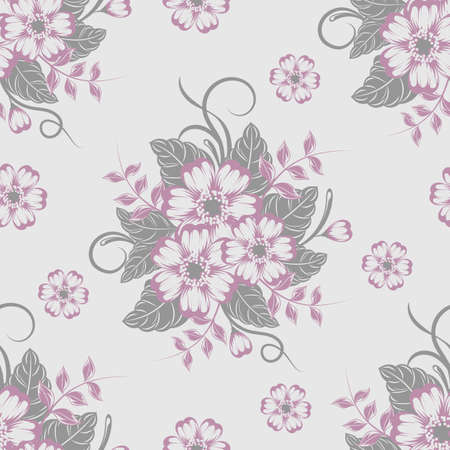 Seamless pattern with beautiful flowers. Vector illustration. Ilustrace