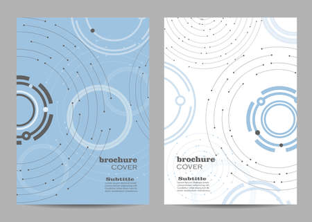 Brochure template layout design. Geometric pattern with connected lines and dots. Ilustração