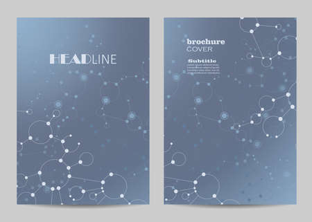 Modern vector templates for brochure cover in A4 size.