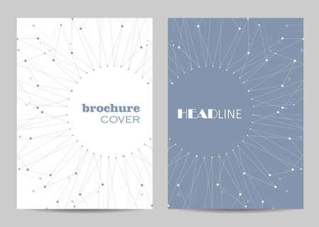 Brochure template layout design.