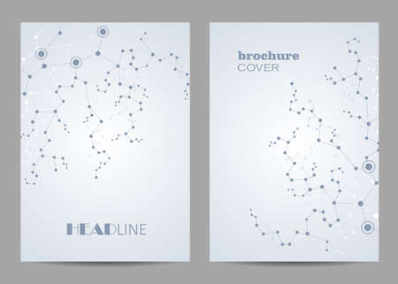 Modern vector templates for brochure cover in A4 size. Imagens - 132768025
