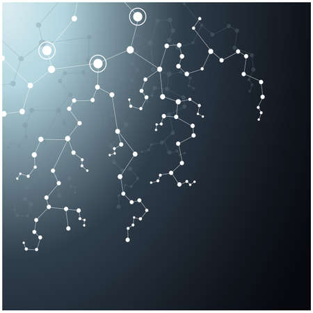 Technical abstract background with connecting dots and lines