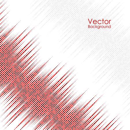 Abstract background with red and gray dots