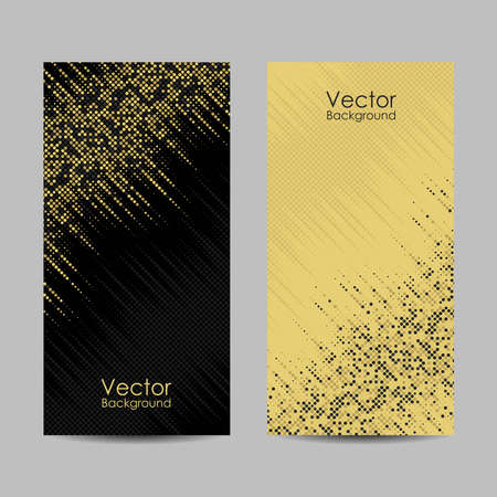Set of banners with dots. Vector illustration