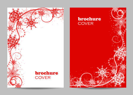 Modern brochure cover design with winter pattern