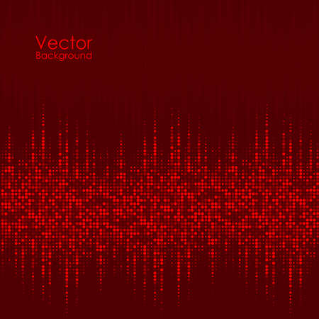 Vector abstract background with the red dots Ilustração