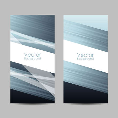 Set of banners with abstract striped background. Ilustração