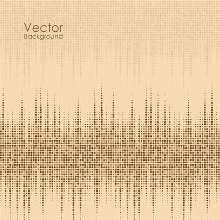 Abstract background with brown and yellow dots