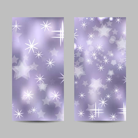 Set of vertical banners with stars and circles Ilustração