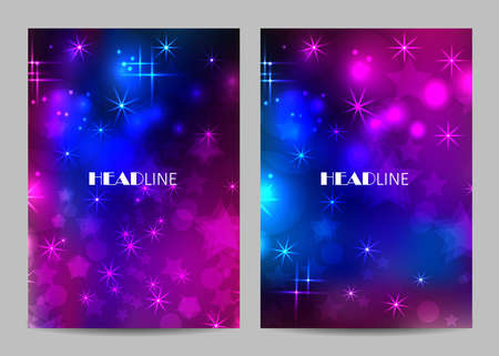 Vector templates for brochure cover in A4 size.