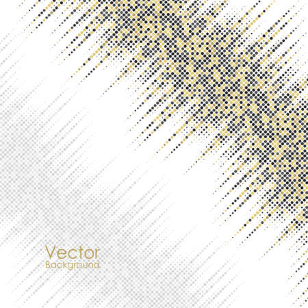 Abstract background with yellow and gray dots