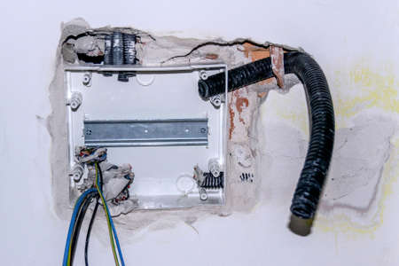 installation of electrical home system with wall mounted cassette