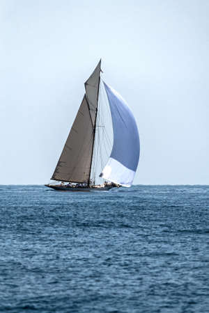 sailboats competing in the Mediterranean Sea Editorial