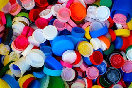collection of colorful plastic bottle caps
