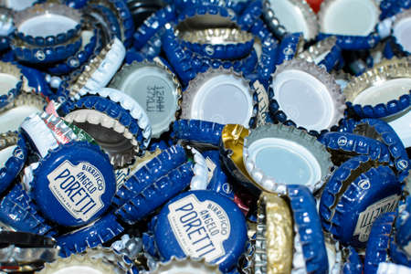 Collection de bouteilles de bouteilles métalliques Banque d'images - 96155493