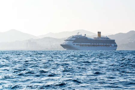 cruise ship that is leaving for a trip from the port of Savona, Italy