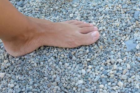 Le c ? ur fait un peu de pierres de bain Banque d'images - 99381051