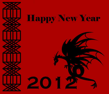 2012 happy new year - year of the dragon Stock Vector - 10063506