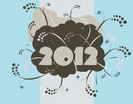 2012 - happy new year card in urban style Stock Vector - 10063511