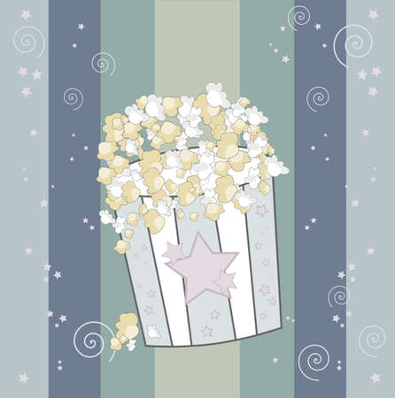 buttered: Big Popcorn - retro background with stripes
